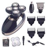 3in1 Professional Electric Rasaver USB ricaricabile per uomo lavabile Cinque teste galleggianti Rasoi clipper per capelli tagliacata per capelli naso orecchio trimmer 210326