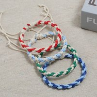 Weave braid bracelet simple string adjustable bracelets women mens bangle cuff fashion jewelry will and sandy gift dff1571