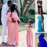 2019 Pregnancy Womens Pregnant Long Maxi Dress Daughter Mother Maternity Gown Party Pregnancy Photography Props X0902