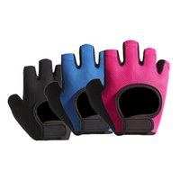 Halbe finger radfahren handschuhe pink mtb fahrrad sport fitness fahrrad stoßfest body baugebäude