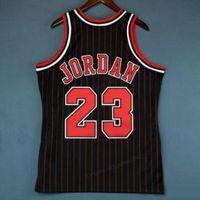Billig benutzerdefinierte Retro # 23 Michael Mitchell Ness College Basketball Jersey Männer Schwarz genäht jede Größe 2xs-3XL 4XL 5XL NAME NUMMER JERSEY