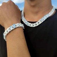 최고 품질의 거리 힙합 트렌드 스테인레스 스틸 목걸이 유니섹스 체인 패션 매력 목걸이 다이아몬드 목걸이 쥬얼리 공급