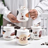 Mugs Creative Cute Cat Mugs,Coffee Mug Cup For Coffee Milk Tea Cups,Ceramic Porcelain Gift