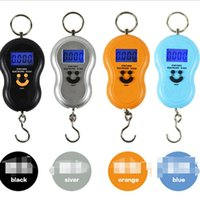 50kg 10g Portable gourd Electronic Digital Hanging Scale Fishing Luggage Hook Pocket Weighing Balance Scales with led light Kitchen Tools