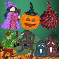 Halloween Fidget Toys Pumpkin Witch Senses Large Tablet Push Bubble Anti-stress Puzzle Children Adult Decompression Toy Surprise Wholesale