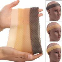 Transparente não-escorregamento peruca gripper aperto de silicone faixa flexível flexível esporte esporte esporte elástico cabelo envoltório esportes esportes pele pele preto cores g551i63