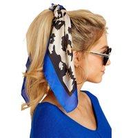 Scarves 70*70cm Silk Satin Hair Scarf Women Fashion Handkerchief Printed Female Square Head Bandana Small Neck Muffler Hijab Lady Girl