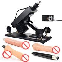 Akkajj Регулируемый секс-пулеметный пулемет набор упорных машин для женщин и мужчин, полностью автоматическое убираемое устройство силиконовые игрушки
