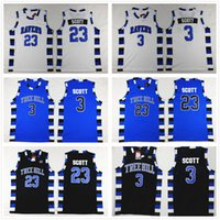 NCAA One Tree Hill Ravens 3 Лукас Скотт Джерси 23 Натан Черный Баскетбол Джерси Брат фильм Белый синий