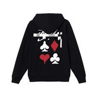 Stusy stussy thin sweater men women Japan fashion br plush cotton hooded loose and versatile for lovers