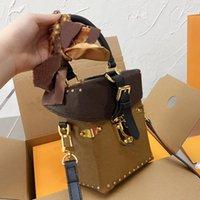 ファッション女性トランクトートバッグラグシャデザイナーズショルダーバッグ高品質レザーアートワークハンドバッグクロスボディハンドバッグ