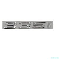 Chrome Shiny Silver ABS Number Letters Word Car Trunk Badge Emblem Letter Decal Sticker for 3 Series 335i
