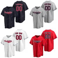 Los camisetas de béisbol de Cleveland personalizados para hombres hacen que sus propias camisas de deportes de Jersey sean un nombre personalizado del equipo y el número cosido