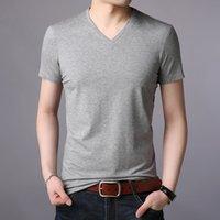 T-shirt da uomo a manica corta a manica corta a maniche corte con scollo a controllo V