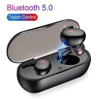 Y30 Wireless Blutooth 5.0 Fones de ouvido Ruído Cancelando Headset HiFi 3D Som Som Som Música Earbuds In-Ear para Smartphone