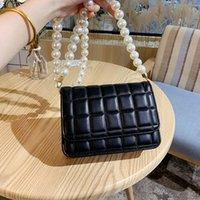 Ladies Luxury Brand Bolso Hombro Messenger Bag Designer Pearl Cadena Rhomboid Juventud Clamshell Sweet Style Cuero
