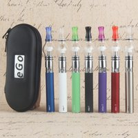 Hot Ego Starter Kit Glass Globe Tank For Wax Dry Herb Vapor Atomizer Electronic Cigarette M6 EGO-T Zipper Case Battery Clearomizer E Cigarettes
