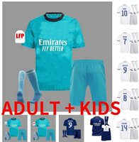 Jersey Real Madrid 21 22 Chemise de football de football Alaba Hazard Sergio Ramos Benzema Asensio Motric Marcelo Camiseta Hommes + Kit Enfants 2021 2022 Quatrième