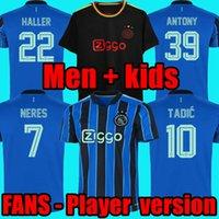 21 22 AJAXJEXJEXJERSEY VERSÃO DE JOGADOR HALLER Away Black Futebol Jerseys 2021 Álvarez Tadic Klaassen Traça Promes Neres Cruyff Homens Kit Kit Futebol Camisa Uniformes