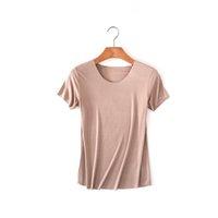 Senhoras camiseta Melhor roupa de compra em linha Roupa en grandes dimensionada do Ombro da gota do O-pescoço