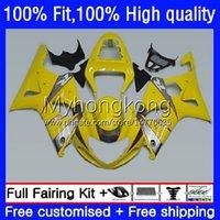 Suzuki GSXR 1000CC 1000 CC 2000 2001 2002 바디 24no.93 GSXR-1000 GSX-R1000 00-02 GSXR1000 K2 00 01 02 OEM 사출 금형 라이트 옐로우 페어링