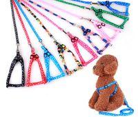 1,0 * 120 cm de chicote de cachorro leashes nylon impresso colar de estimação ajustável filhote de cachorro gato animais acessórios pet colar de corda amarrar colarinho