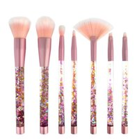 Makyaj Fırçalar Glamfix Nokta 7 adet Quicksand Kristal Kolu Taşınabilir Renkli Glitter Sequins Fırça Setleri