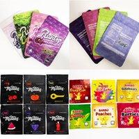 Edibles Packaging Runtz Gummies Bag Mylar Bages smell proof 500mg Ether Runty White medilles Pink Original Plastic Zipper Package 4 Colors