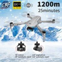 UAV New KF102 Drone 8k Brushless Motor 6K HD Camera GPS Professional 1200m Image Transmission Foldable Quadcopter RC Dron VE58 E520 Q0602