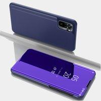 Smart Flip Clear View Miroir avec étui de support Coque en cuir Cas de téléphone pour Xiaomi Redmi Note 10 4G