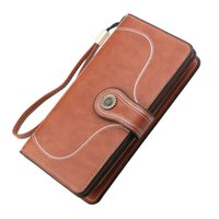 Wax Long Handbags Zipper Oil Woman Leather Women's Wallet Large-capacity Clutch Purse Section Acqmd Women&#039 Vlgtg