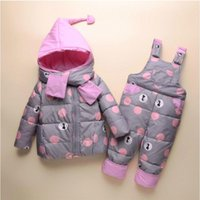 Coat Winter Warm Children's Clothing Sets Baby Girl Duck Down Snowsuit Kids Ski Suit Set Boy's Jackets+pants Toddler