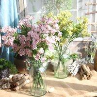 Dekorative Blumen Kränze Künstliche Orchidee Einzelzweig Hohe Qualität Seide Oncidium Hybridum Tanzen-Puppe für Haus Hochzeit Garten Dekor