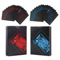 54 шт. Водонепроницаемый PVC Pure Black Magic Box-Упакованные пластиковые игральные карты Установить Deck Poker Classic Magic Tricks Инструмент 2056 Z2