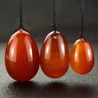 Natural Crystal Amber Carnelian Quartz Yoni Eggs for Woman Vagina Healing Massage Power Stone Egg Sex Toy