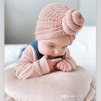 Baby Girls Princess Sombreros insumos / invierno Invierno Punto de pie Casera de caracol Niños Anudados Casas Casuales Bebés Beanie Reborn Hat D143