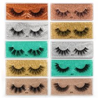 Wholesale Mink Lash 3D Individual Eye Lashes Curler Thick and Exaggerated False Eyelashes 10 Different Style with Color Bottom Card Make Up Eyelash