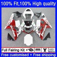 Injectie Mold Backings voor Suzuki GSX-R1000 GSXR1000 K2 00-02 Carrosserie 24NO.19 GSXR 1000 cc 1000cc 00 01 02 Witte rode HOT GSXR-1000 2000 2001 2002 Motorfiets OEM-bodys