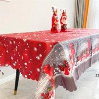 Party Saciosts 150 * 180см Настольная ткань бегун Рождество Новый год Домашняя скатерть рождественские дерево ловкие плед печатные ужин