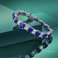 HBP fashion Shipai Blue Bracelet feminine temperament luxury geometric 925 Sterling Silver Pagoda cutting hand Ornament New Product