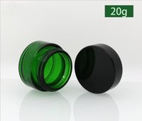 Verde Bottiglia di vetro Cosmetici Rossetto Unguento Test Test Tube PP Fodera 20g 30G 50G