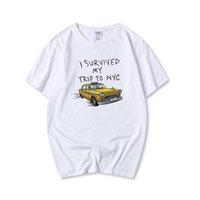 Topesko Fashion Summer T-shirts Tom Holland Tees j'ai survécu à mon voyage à NYC Coton Casual T-shirts drôles XS-3XL 210707