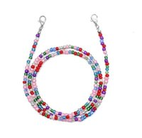 Face Mask Extension Lanyard Beaded Holder Rest Rope Hang on Neck String Glassses Anti-loss Straps for Kid Adult Leash Hhf1717