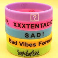 Tennis 100pcs XXX XXXTENTACION SAD Bad Vibes Forever Silicone Wristband Bracelet By Epacket