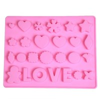 Baking Moulds 3D Various LOVE Heart Shape Silicone Chocolate Ice Mold Cake Decoration Bakeware Jelly Pudding Mould Home Kitchen Cooking Tool