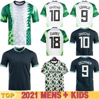 Nigelia Soccer Jersey 20 # 21 Mailleot De Foot Okechukwu Ighalo Okocha Ahmed Musa Ndidi Mikel Iheanacho Men Kids Kit Football Shirts