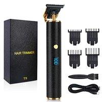 Display a LED Professionale per capelli Trimmer per capelli Clipper Shaver Shaver Barba Capelli Parrucchiere Kit da taglio USB ricaricabile nero portatile taglio macchina da taglio