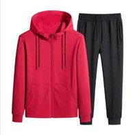 21FW Men Women tracksuits arrival high quality two pieces set Hooded jacket+track pants with letters and strips printed Size L-4XL