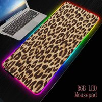 Mouse Pads & Wrist Rests MRG Leopard Texture Large Locking Edge Gamer Computer Desk Mat Anime Non-Skid Gaming MousePad Notebook Pc Accessori