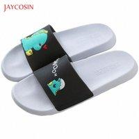 Jaycosin Femmes Pantoufles Dessin animé Petit Dinosaure Femme Femme Chaussons Filles Beach Diapositives Flip Flops Eandoufles Zapatillas de Mujer O4UP #
